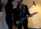 Performing with Dave Stewart